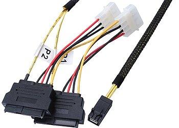 Internes SAS HD Kabel, SFF8643 aus SAS Drive Stecker 2-fach