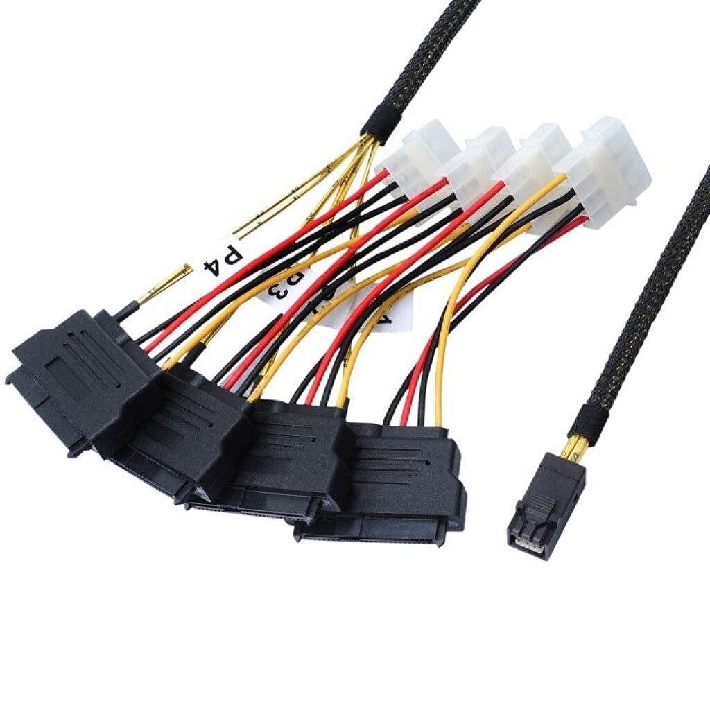 Internes SAS HD Kabel, SFF-8643 auf SAS Drive 4-fach