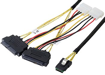 Internes Mini SAS Kabel, SFF8087 auf SFF8482 (SAS Drive) 2-fach