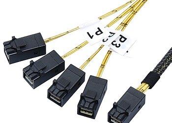 Internes SAS HD Kabel, SFF8643 auf SFF8643 4-fach