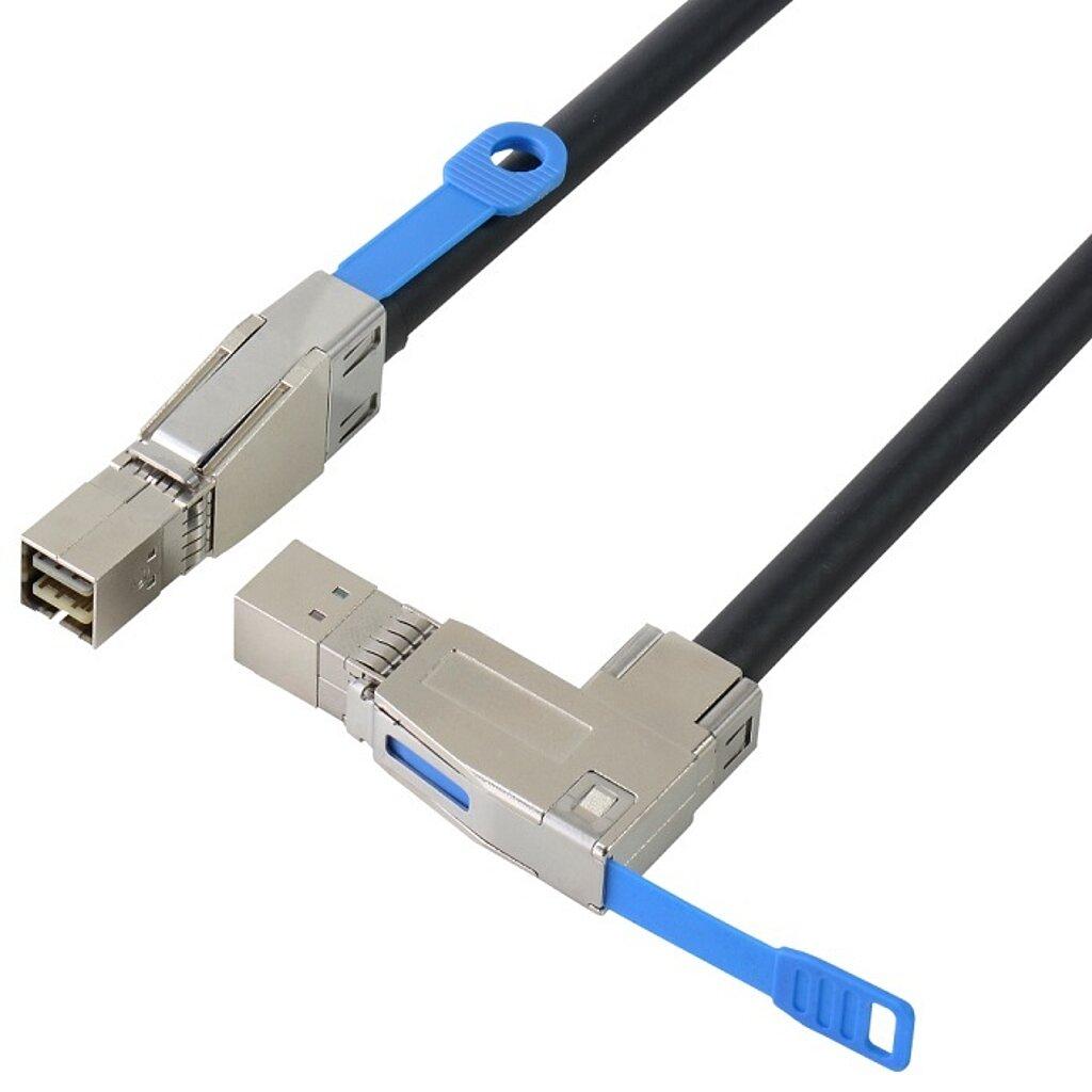 Externes SAS HD Kabel, SFF8644 auf SFF8644 90°