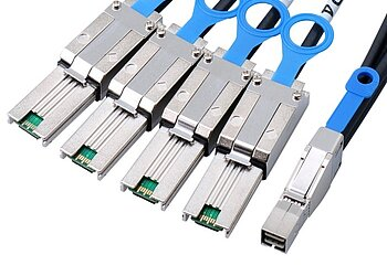 Externes SAS HD Kabel, SFF8644 auf SFF8088*4